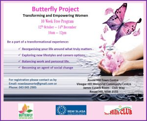 butterfly empowering women flyer