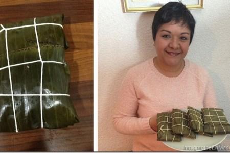 Patricia Díaz, vende ricas hallacas y pasapalos venezolanos en Madrid