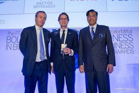Lorenzo Mendoza recibió en Londres el FT ArcelorMittal Boldness in Business Award