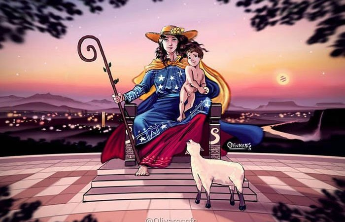 Oscar Olivares, artista del tricolor y el sol como arepa