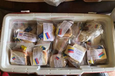 La iniciativa para apoyar con alimentos a los manifestantes
