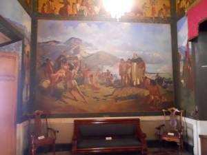 Fresco evangelización por Tito Salas
