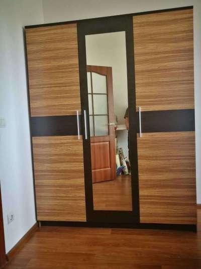 Вероника зебрано шкаф 3 двери (Мебель Сервис)