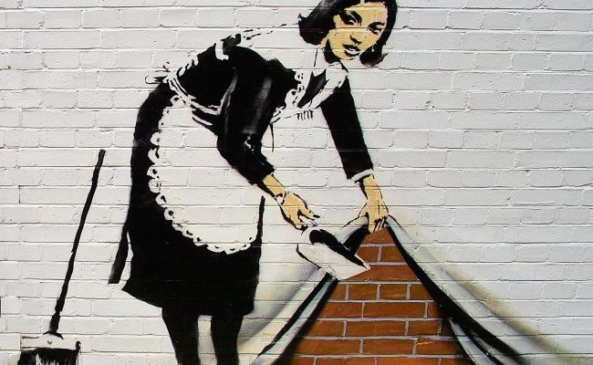Banksy Graffiti Defaced Near Sundance Festival