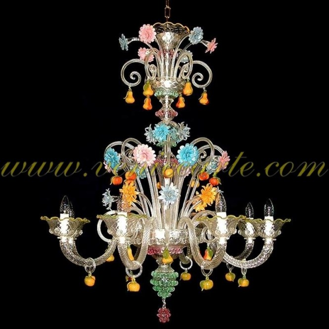 San Bartolomeo Murano Glass Chandelier 8 Lights