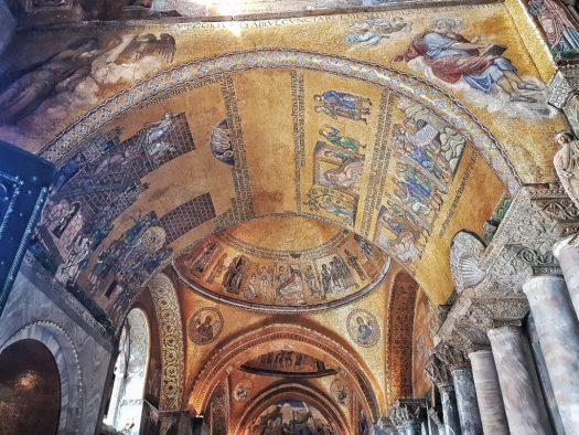 San Marco Mosaics at the enter of Basilica di San Marco Museum