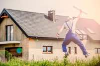 house builder jumping