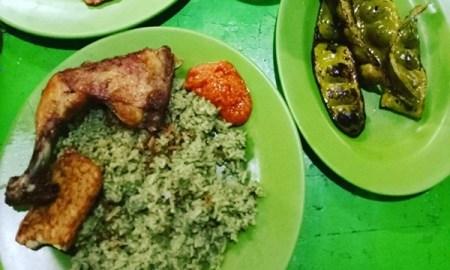 Nasi uduk ijo teh Dede khas Bogor di galaxy Bekasi