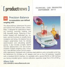 Alliance Scale - Clinical Lab Products Sept 2014 001
