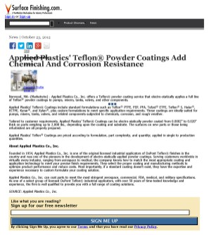 Applied Plastics Teflon Powder Coatings Add Chemical And Corrosion Resistanc_Page_1
