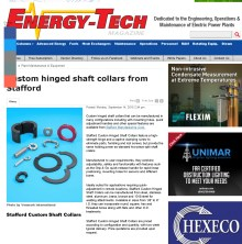 Custom hinged shaft collars from Stafford - Energy-Tech Magazine_ Plant Main_Page_1