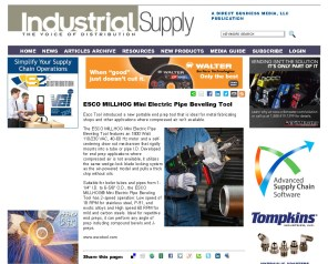 ESCO MILLHOG Mini Electric Pipe Beveling Tool - Industrial Supply Magazine