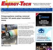 ESCO Polypropylene coating removal beveler kit peels pipe insulation away - Energ_Page_1