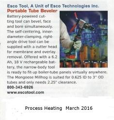 Esco Tool - Process Heating March, 2016