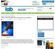 Flexaust -Laboratory Product News - Teflon hose provides harsh chemical fume extractio_Page_1