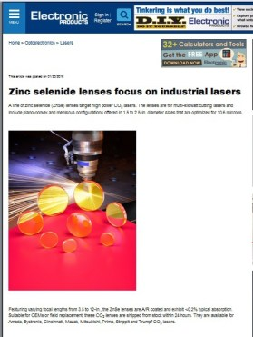 Laser Research- Electronic Products