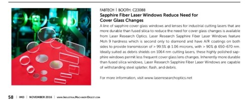 Laser Research Optics IMD 11-16