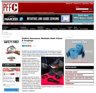 Stafford Announces Weldable Shaft Collars & Couplings - Paper, Film & Foil C_Page_1