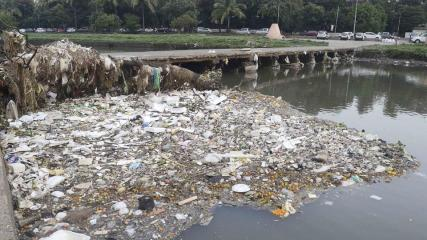 Pollution observed at the rivers in Pune, India.