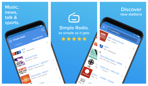 Simple radio app without internet