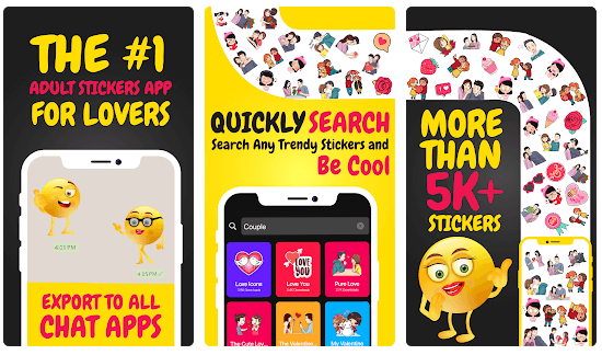 Sexy Adult Emoji Stickers for Couples