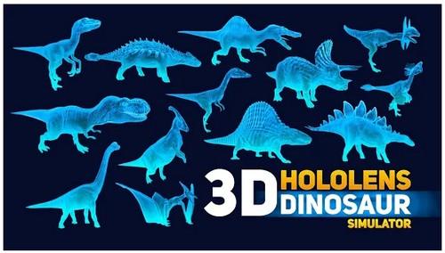 HoloLens Dinosaurs park 3d hologram PRANK GAME 1