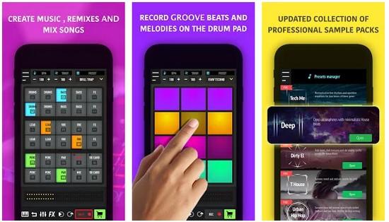 Mix Pads - Drum pad machine DJ Audio Mixer