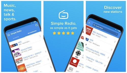 Simple Radio Free Live AM FM Radio Music App