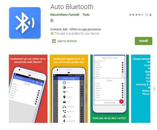Auto Bluetooth app