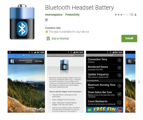 Bluetooth Headset Battery