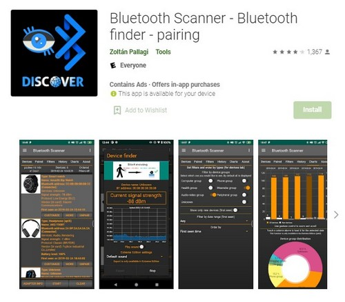 Bluetooth Scanner app