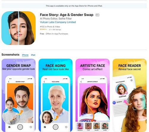 Face Story Age Gender Swap