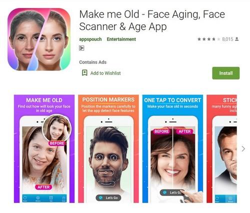 Make Me Old Face Aging Face Scanner Age App