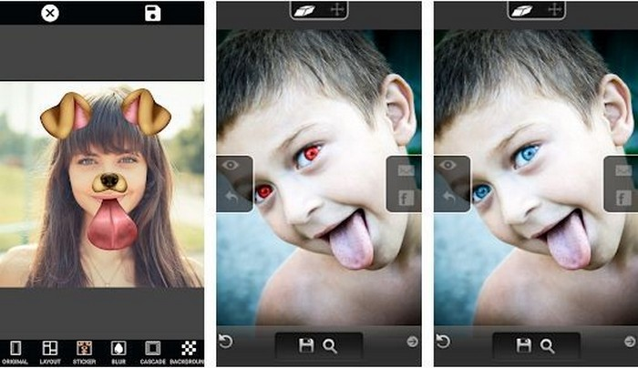 Eye Color Changer Photo Grid