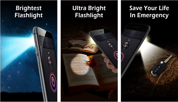 Flashlight by lighthouse