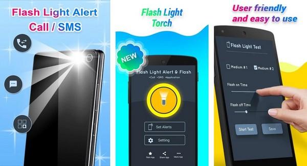 Flashlight Alert on Call SMS