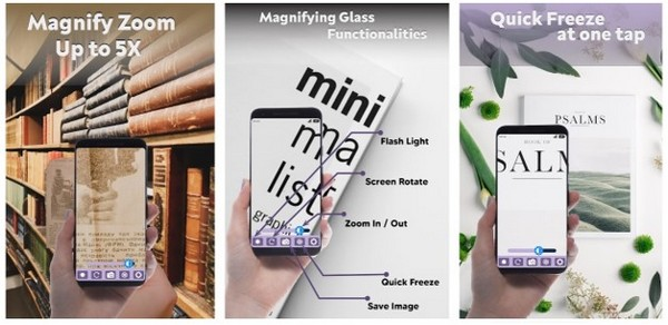 Magnifier App 2021 with Deep freeze and Flashlight