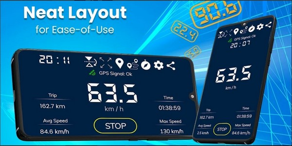 Digital Speedometer GPS Offline odometer HUD Pro