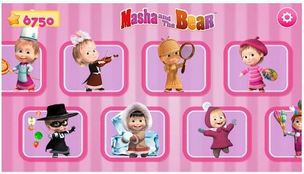 Masha and the Bear. Games Activities