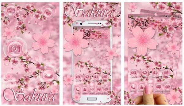 Lovely Pink Sakura Themes Live Wallpapers