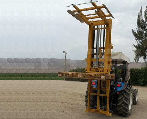 elevador hidráulico tractor