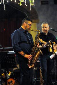 Marco Monesi e StefanoPadoan tra sax e poesia - foto di Claudio Cecchetti