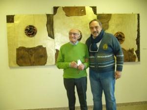 Melotti con l'artista Carmine Tisbo