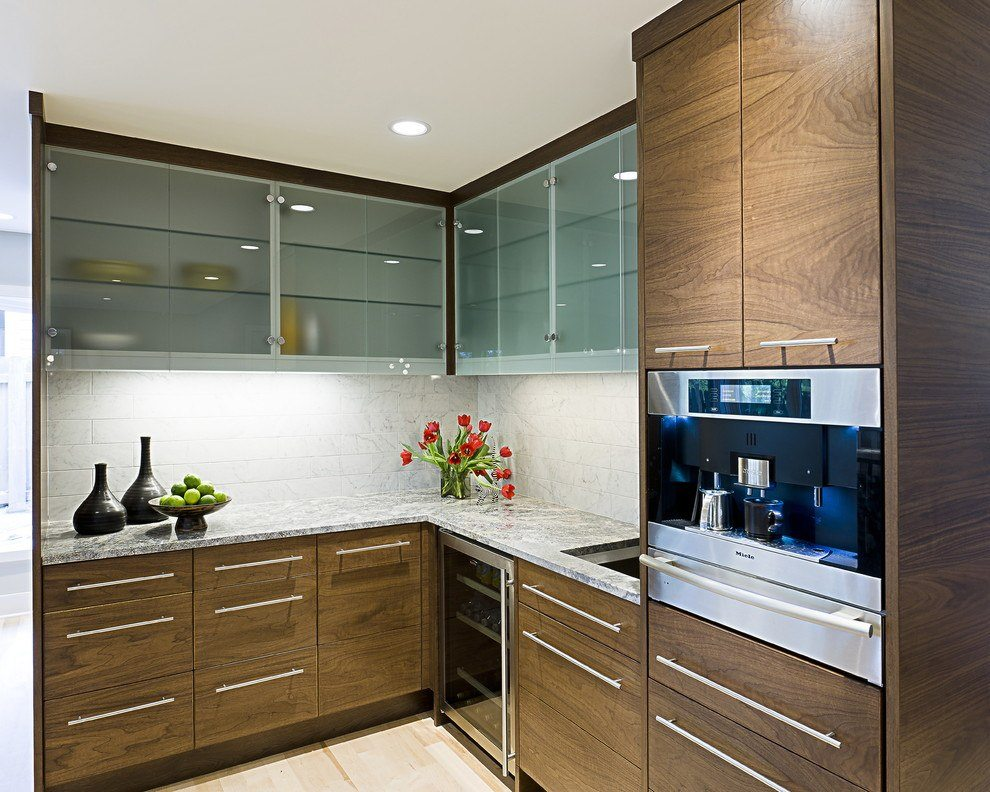 shelves for kitchen cabinets sample kitchens cabinet glass residential gallery anchor ventana saten doors clear in