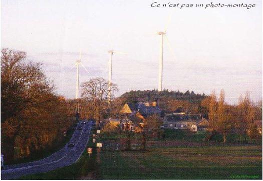 Parc éolien Derval-Lusanger au Vieux-bourg Loire Atlantique