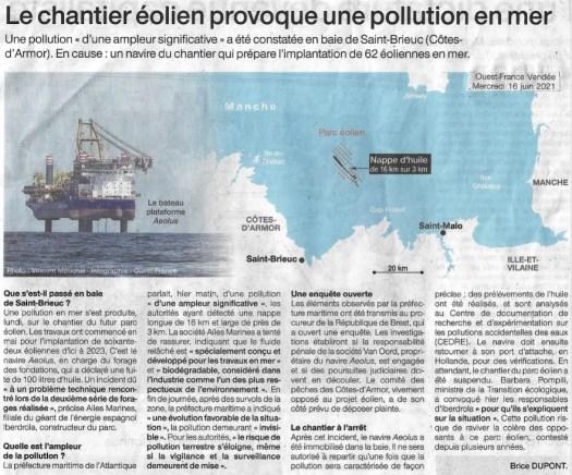 Article Ouest France du 16/06/21