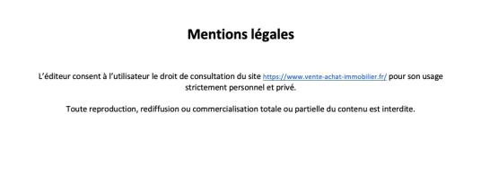 Mentions légales vente-achat-immobilier.fr