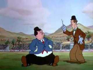 Stanlio e Ollio nella loro seconda apparizione animata