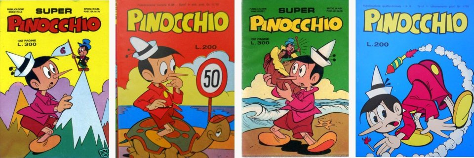 alberico motta ha contribuito a disegnare la serie a fumetti di pinocchio