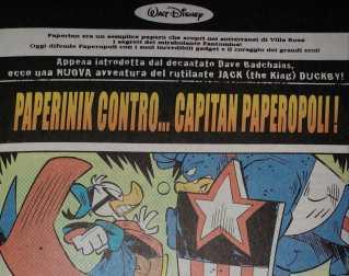 Quando Paperinik incontrò Capitan America